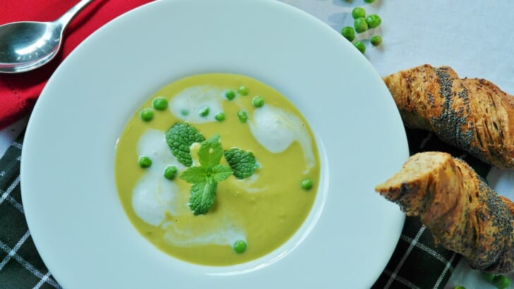 おいしそうなスープの写真