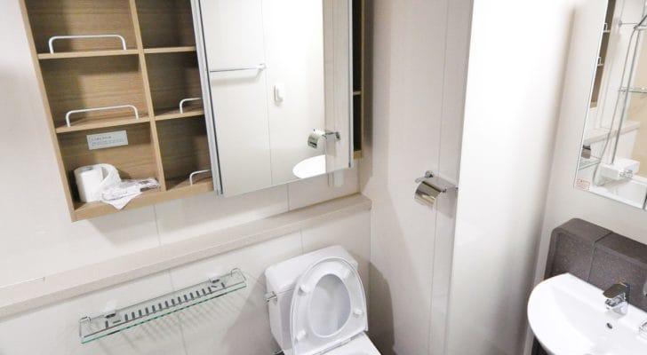 シンプルでおしゃれなトイレの写真