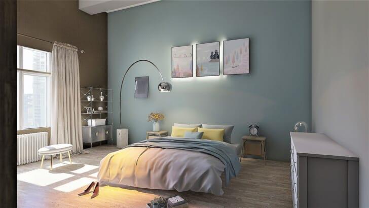 寝室のベットや家具の写真