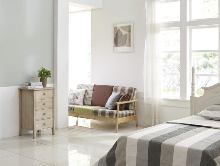 ベッドの置かれた部屋の写真