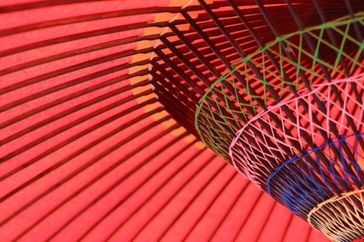 和傘のアップの写真