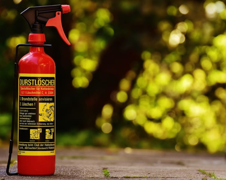 家庭用消火器の写真