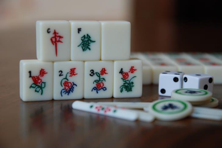 麻雀牌・点棒の写真