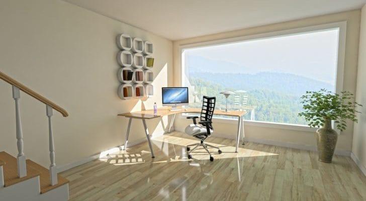 おしゃれなオフィスデスクやチェアの画像