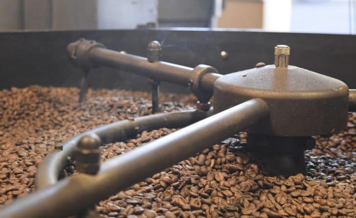 本格コーヒーが楽しめる焙煎機の写真