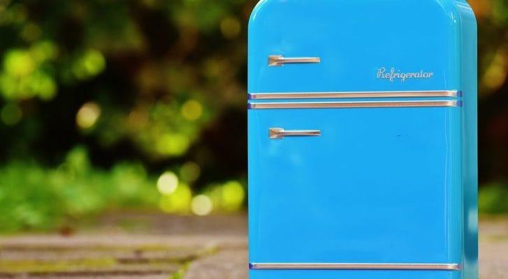小さな冷蔵庫の写真