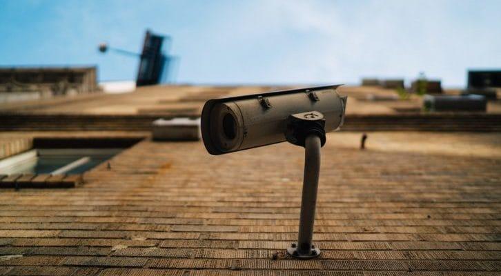 防犯、監視カメラの写真