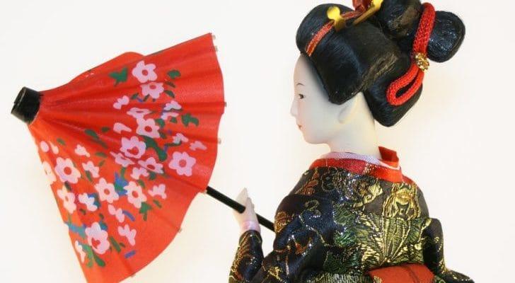 日本人形の画像