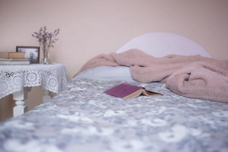 就寝用電気毛布の写真