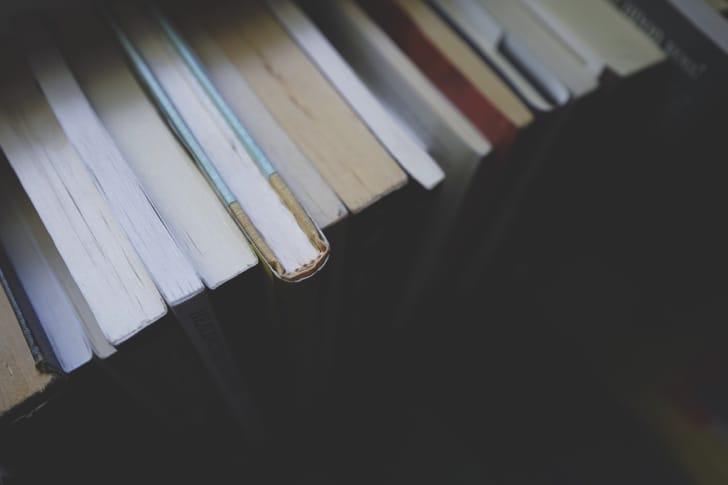 本が並んでいる写真