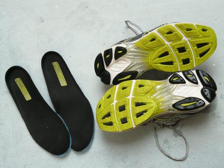 登山靴のインソールの写真