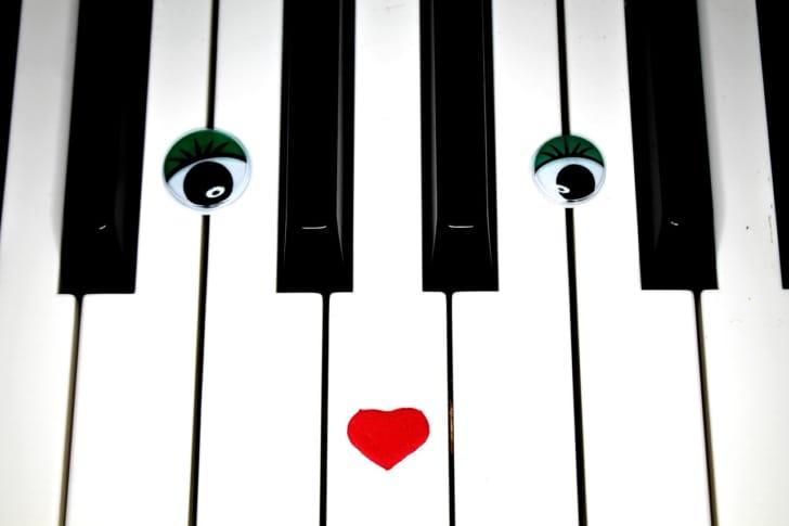 ロールアップピアノの写真