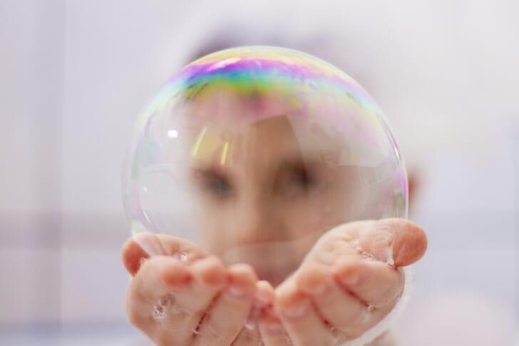 泡のシャボン玉の写真